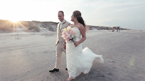 Our first beach wedding