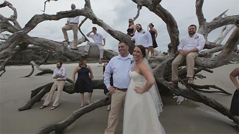 Driftwood Beach Wedding On Jekyll Island