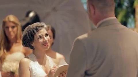 Touching handwritten wedding vows