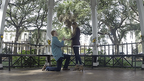 A Surprise Proposal in Downtown Savannah
